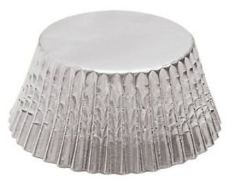 40 Silver Foil Cupcake Liners/Cupcake Liners