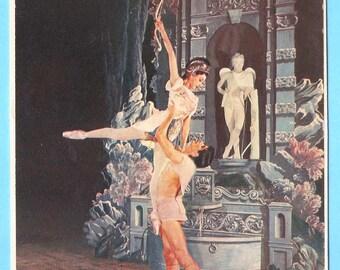 Ballet Dancers Illustration (Fonteyn and Nureyev)
