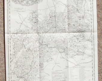Antique Map of Gloucestershire c.1900