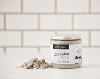 Fig and Plum Sugar Scrub, Organic Sugar Scrub, Natural Body Scrub, Gentle body scrub, Gentle Sugar Scrub, lava scrub, Body exfoliant, , 8 oz