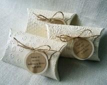 Fancy Pillow Box (5) Favor Box Pillow Box Wedding Favor box Party favor box Wedding Pillow Boxes Ivory boxes Pack of 5