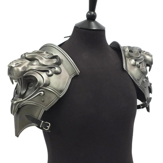 Larp Armor Lion Head pauldrons