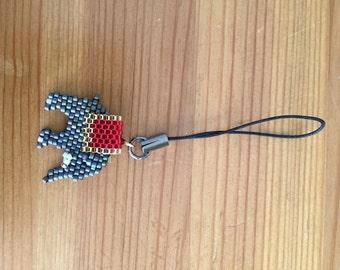 Elephant zipper charm