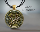 The Sigil of the Gateway Necronomicon Pendant with Leather Cord