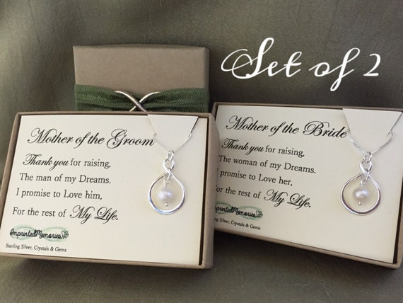 ... Mother of the groom gift - mother of the bride gift wedding necklace