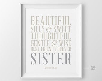 Sister Birthday Gift for Sister Gift from Sister Birthday Present for Sister Maid of Honor Gift Best Friend Gift Christmas Gift for BFF