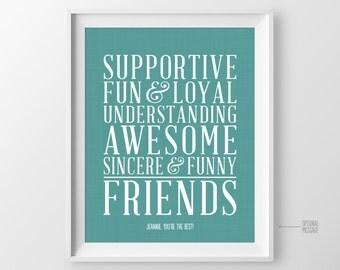 Best Friend Long Distance Gift Unique Friendship Gift Personalized Gift For Best Friend Unique Birthday Gift For Best Friend Birthday Gift