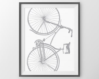 Coral Bike Poster Bicycle Wall Art Bike Art Bicycle Decor Bike Print Cyclist Christmas Gift For Cyclist Vintage Bicycle Art Print Wall Art