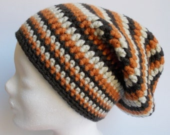 crochet hat, wooly hat, beanie, brown shades