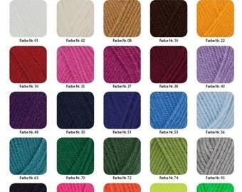 50g wool: hatnut XL 55, choose color free