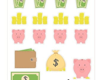 T031- Piggy Bank Stickers