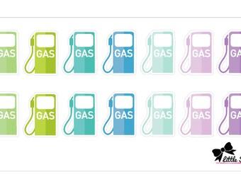 Gas Icon Pastel Stickers // T008