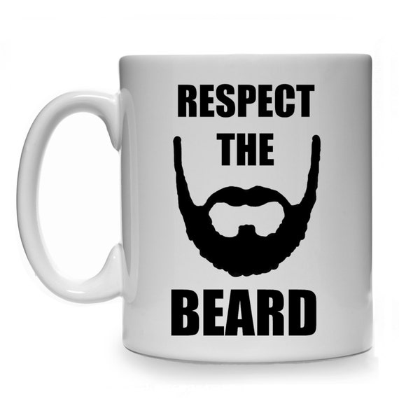 Respect The Beard Gift Mug Cup Present Bearded Face Dad Daddy