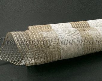 "21""x10yds Natural & Ivory Burlap Mesh/Burlap mesh Supplies/XB944-15"