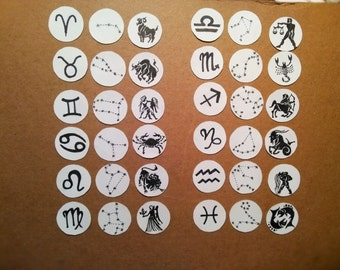 Zodiac Sign Sticker Set