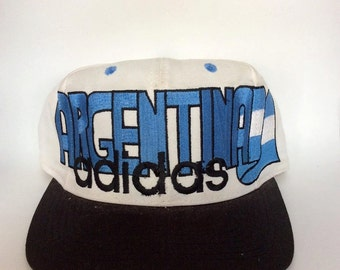 Vintage Argentina Snapback Hat by Adidas Rare 90s