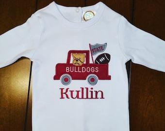 Mississippi State Bulldogs applique onesie/tshirt