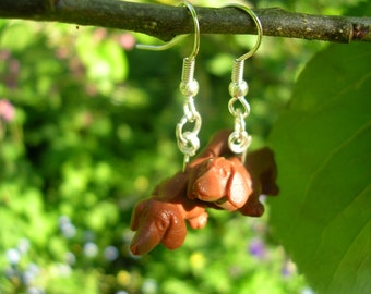 Sausage dog earrings