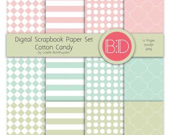 Cotton Candy Scrapbook Paper Set