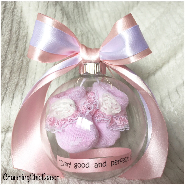 baby shower keepsake gift for girl personalized ball