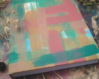 Abstract brush strokes journal A5