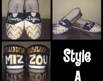 Mizzou MU Missouri Tigers women's shoes