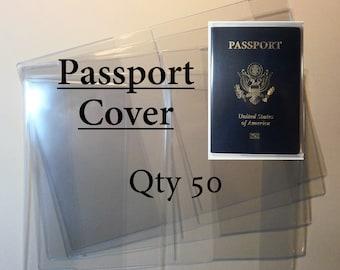 Clear Vinyl Passport Covers - 12 gauge - Qty 50