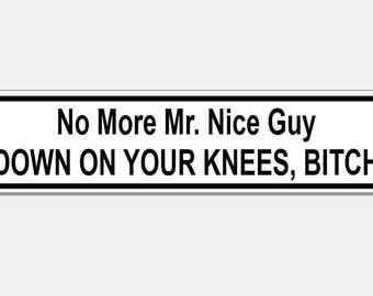 No more mr nice guy bumper funny decal sticker