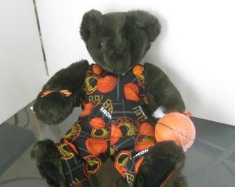 Basketball Bear- Plush Stuffed Sports Teddy Bear