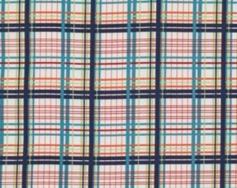 Cotton Fabric by Valori Wells for Free Spirit Fabrics Bridgette Lane Plaid PWVW065 Blueberry