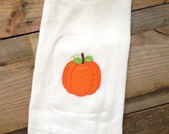 Pumpkin flour sack dish cloth