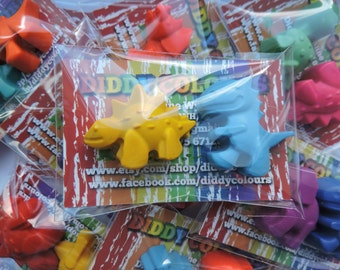 10 Dinosaur Twin Crayon Packs, Kids Party Favour, Party Favours