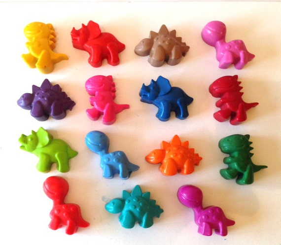 Cheap Christmas Stocking Ideas for Kids - Dinosaur crayon bucket, set of 15, kids gift idea, party favours
