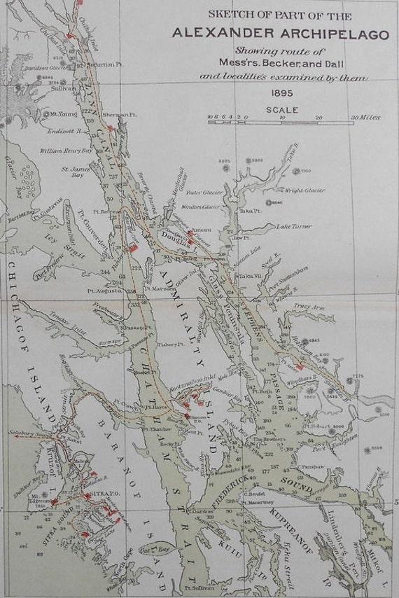 Map Of Alexander Islands Alaska