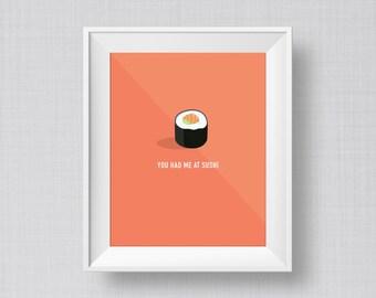 Sushi Art Print | Kitchen Art Print | Office Art Print | Food Art Print