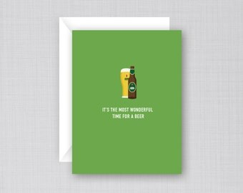 Keith's Beer Christmas Card | Beer Christmas Card | Wonderful Time for a Beer