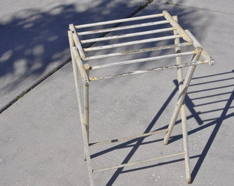 Vintage Wood Fold-up Drying Rack