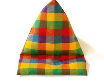 Tablet bean bag, colorful squared