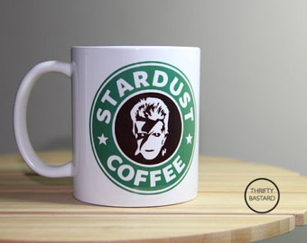 David Bowie Coffee Mug // Ziggy Stardust // Starbucks // Mug // Stardust Coffee // Gifts for her // Gifts for him //