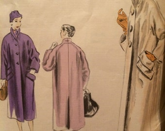 Very Rare 1950's Vogue Couturier Design Coat Pattern 667