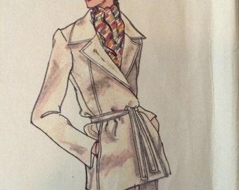 Vogue Paris Original 1601 Wrapped Jacket, Skirt and Pants by Pierre Balmain