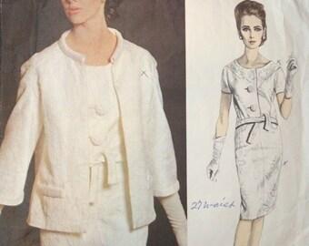 Vogue Paris Orginal Two Piece Suit and Jacket Pattern 1396 by Balmain