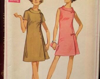 Plus Size 1960's Mod A-Line Dress Simplicity 6159