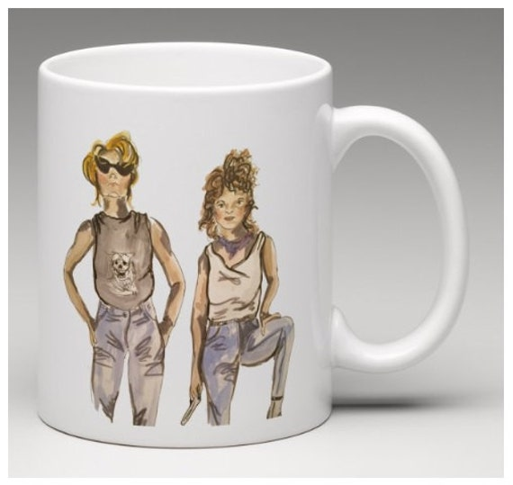 67dcfb06a25 Thelma And Louise Ceramic Mug 11oz By MorganMakes On Etsy