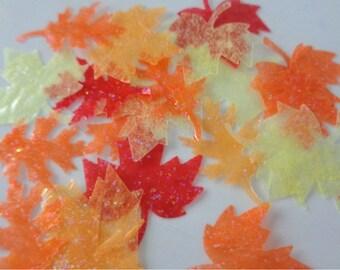 Fall Leaf Confetti, Fall Leaves Confetti, Autumn Leaf Confetti, Autumn Leaves Confetti, Fall Party, Fall Decorations, Scrapbooking Fall,