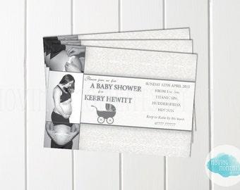 Elegant Baby Shower Invitations with Envelopes