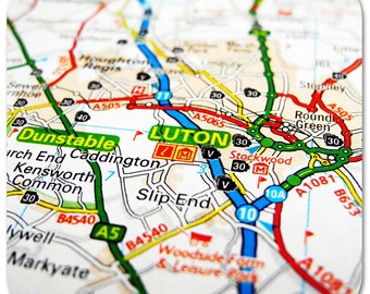Luton Map Coasters