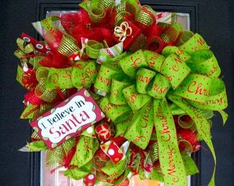 Christmas Wreath, Holiday Wreath, Christmas Decoration, Door Hanger, Wreath for door, Front door Wreaths, Wreaths, Ready to Ship