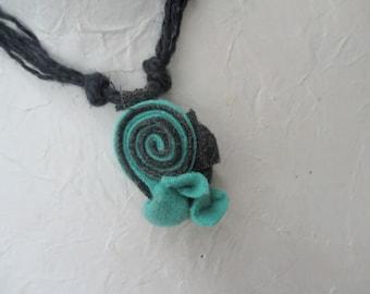 50% off Sided Necklace Fiber Linen felt