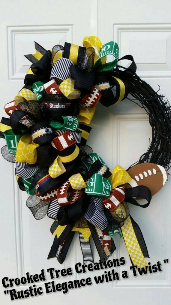 Items Similar To Pittsburgh Steelers Wreath Football